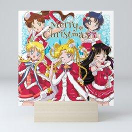 Merry Xmas Inner Senshi Mini Art Print