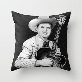 Merle Travis III Throw Pillow
