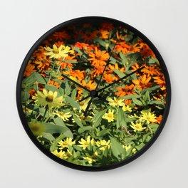 Sea of Orange & Yellow Wall Clock