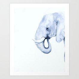 Be as calm as an elephant Art Print