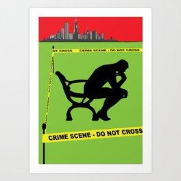 Caution Idler Thinking Art Print