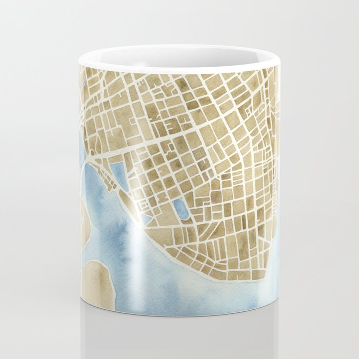 Charleston, South Carolina City Map Art Print Coffee Mug