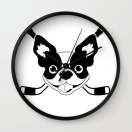 Boston Terriers Hockey Wall Clock