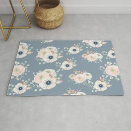 Dog Rose Pattern 3 Rug