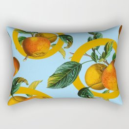 Vintage Fruit Pattern II Rectangular Pillow