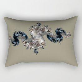 figure on the background Rectangular Pillow