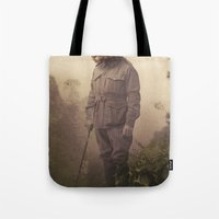 jungle Tote Bags featuring Jungle Jaguar by Chase Kunz