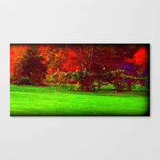 Red Trees three Canvas Print