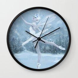 Snow Dancer Wall Clock