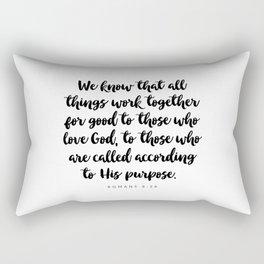 Romans 8:28 - Bible Verse Rectangular Pillow
