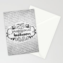 Professional Bookworm Paper Stationery Cards