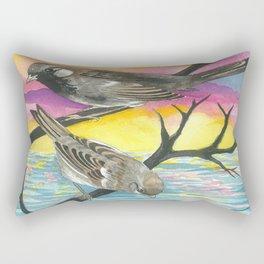 House Sparrows Rectangular Pillow