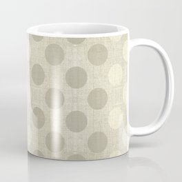 """Nude Burlap Texture and Polka Dots"" Coffee Mug"