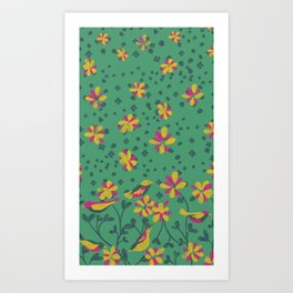 Bird Field Art Print