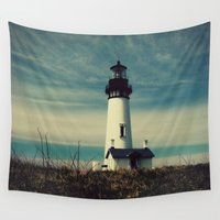 lighthouse Wall Tapestries featuring Lighthouse by Yellowstone Photo Studio