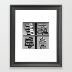 Vintage Signs Series #3 Framed Art Print