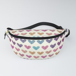 Colorful hearts III Fanny Pack