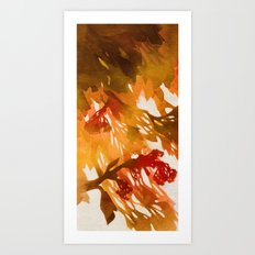 Morning Blossoms 2 - Red Variation Art Print
