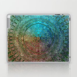 Cold Metal Flower Mandala Laptop & iPad Skin