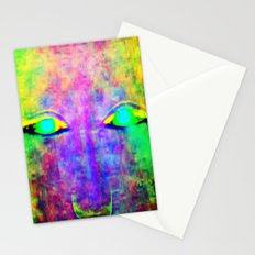 her robot eyes Stationery Cards