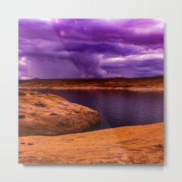 Extreme Martian Thunderstorm On Mars Metal Print