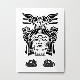Aztec Priest Metal Print