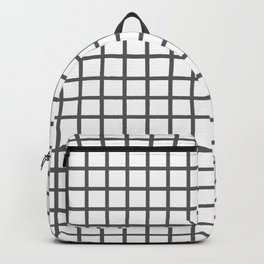 Grid (Grey & White Pattern) Backpack