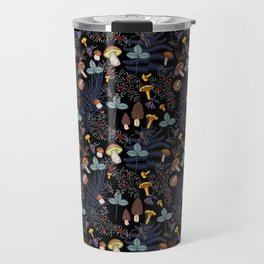 dark wild forest mushrooms Travel Mug