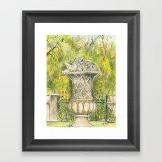 Sculpture In the Garden Framed Art Print