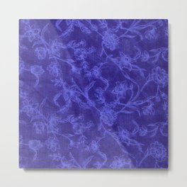 Flower Pattern (Blue version) Metal Print