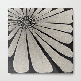 Rectangle Flower Metal Print