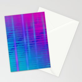 Gradient Light Beams Stationery Cards