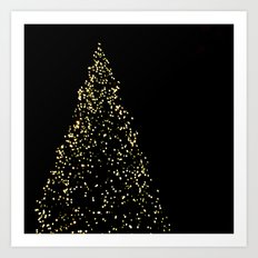 Edinburgh Christmas Tree  Art Print