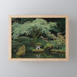 Serenity at a Japanese Garden Framed Mini Art Print