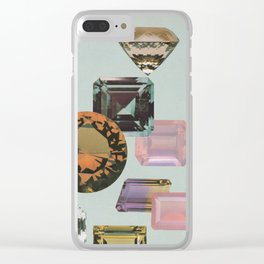 Gem Collection Clear iPhone Case