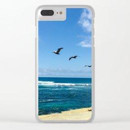 3 Pelicans at La Jolla Cove Clear iPhone Case