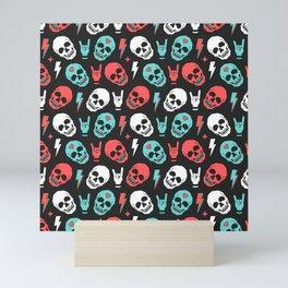 Skull - Black Mini Art Print