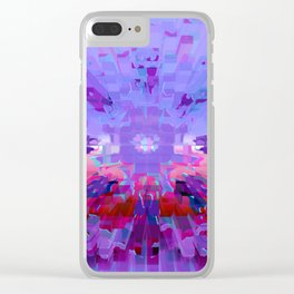 Left Planet Earth Clear iPhone Case