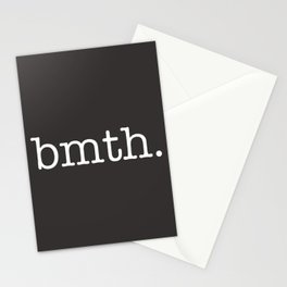 BMTH Simple Text Stationery Cards