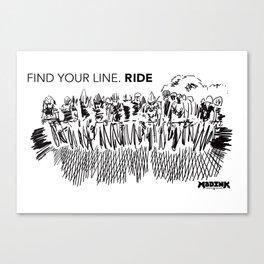 Goodluck to all who ride. #tourdefrance #GoUSA #illustration #2dart Canvas Print