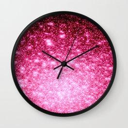 Galaxy Bubblegum Pink Wall Clock