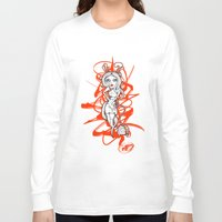 barbie Long Sleeve T-shirts featuring Barbie Zombie by Paride J Bertolin