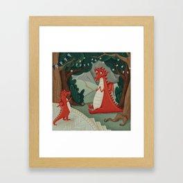 Concert of little Dragon Framed Art Print