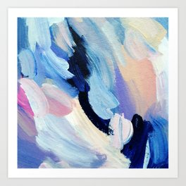 Bibbity Bobbity Blue (Abstract Painting) Art Print