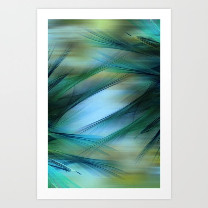 Soft Feathered Lights Abstract Art Print