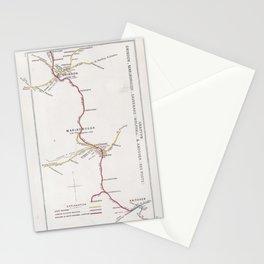 Railway Junction Diagram (1914) 107 - Grafton, Swindon, Marlborough, Savernake & Andover Stationery Cards