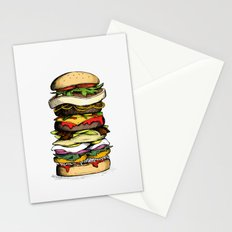 Now THIS is a burger. Stationery Cards