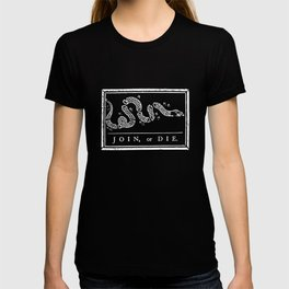Join or Die - Black and White T-shirt