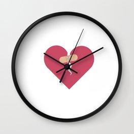 broken heart healed by patch Wall Clock