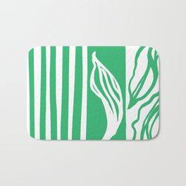 Long Leaf Stripe green Bath Mat
